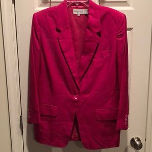 Nordstrom Classic Lined Red Blazer
